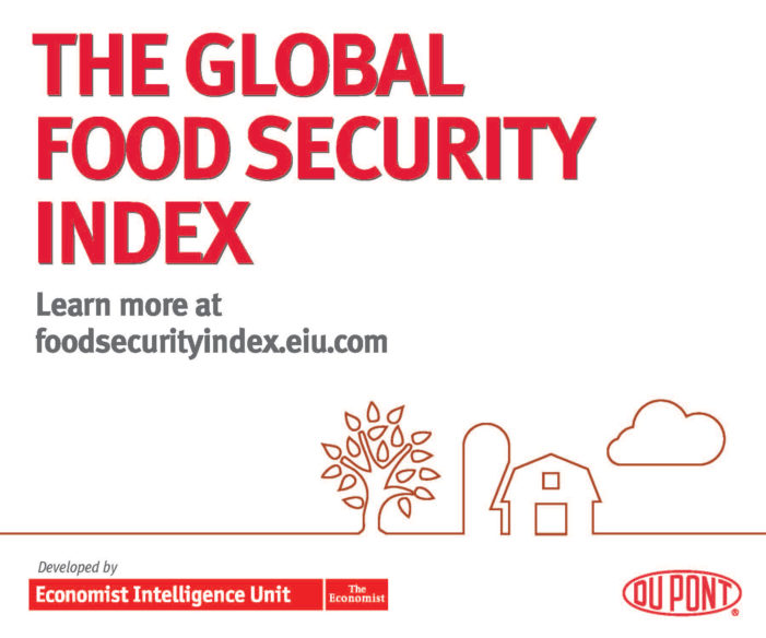 Global Food Security Index Adds New Quarterly Food Price Adjustment Factor