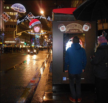 Marmite launches interactive photo booth