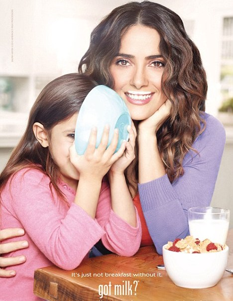 For Salma Hayek, Milk's Protein Makes Perfect – Every Morning