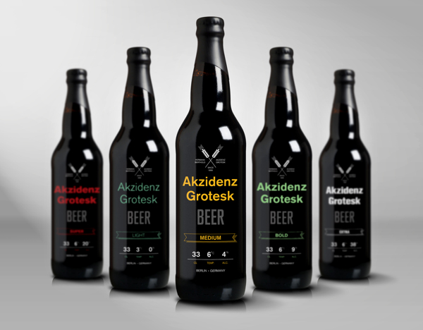 Range Of Attractive Bottled Beer Inspired By Iconic German Typeface