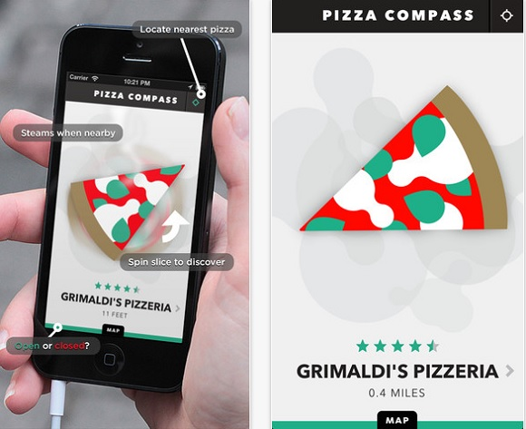 'Pizza Compass', An App That Points You To The Nearest Pizza Store