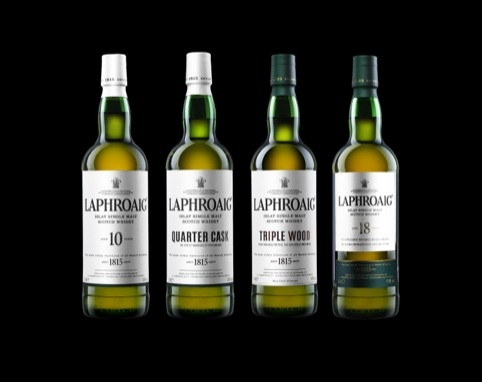 JKR Redesigns Laphroaig Whisky Packaging