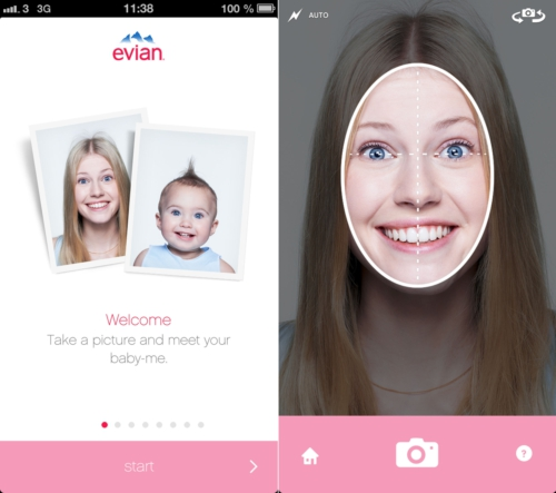 evian Launches Baby & Me Application