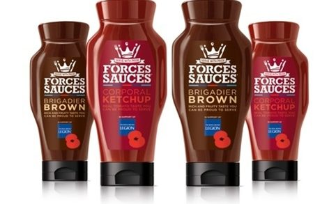 Blue Marlin Creates 'Soldiering' Designs For Forces Sauces