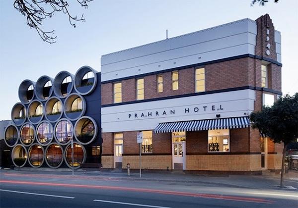 A Cool Hotel Bar Built Using Gigantic Concrete Tubes