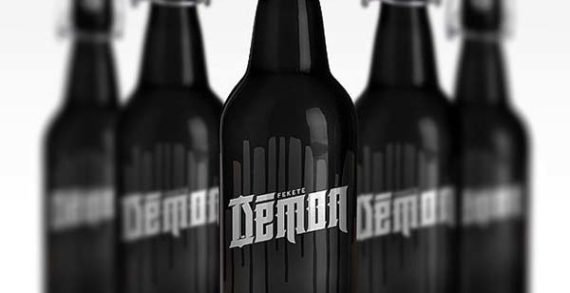 Fekete 'Démon' Beer Packaging Looks Dark & Edgy Enough For The Devil