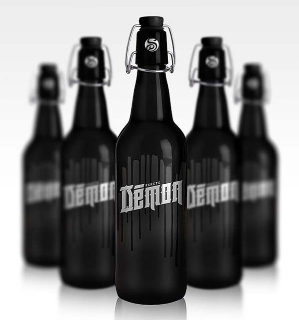 Fekete 'Démon' Beer Packaging Looks Dark & Edgy Enough For The Devil
