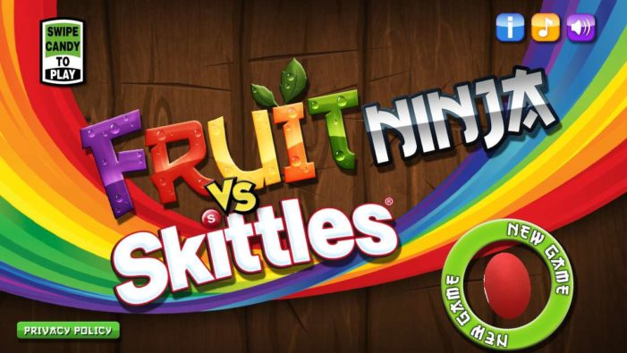 Wrigley's Skittles Brand Teams Up With Fruit Ninja Game