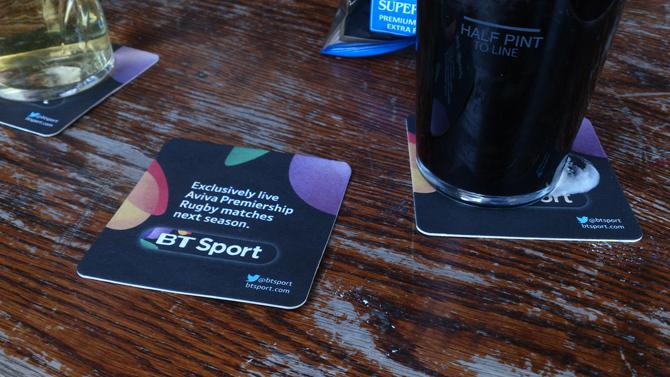 BT Sport Offers Digital Beer Mats to Pubs & Clubs