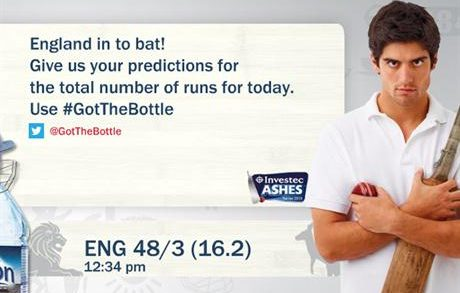 Buxton Catches Twitter 'Chatter' for Ashes OOH Push