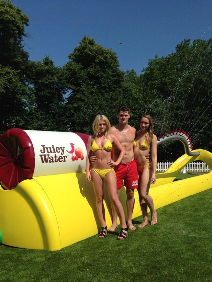 Juicy Water To Launches the World's Largest Sprinkler