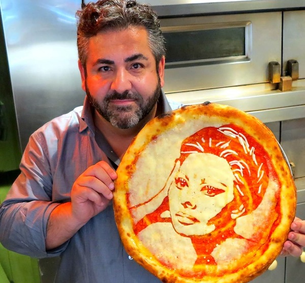 Chef Creates Portraits On Pizza, Using Just Cheese & Tomato Sauce