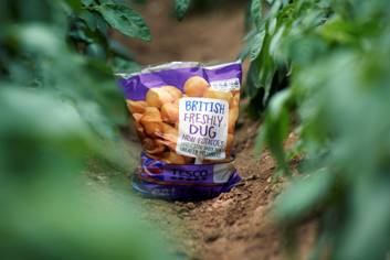 Tesco Digs in to Freshly Dug Spuds for Summer