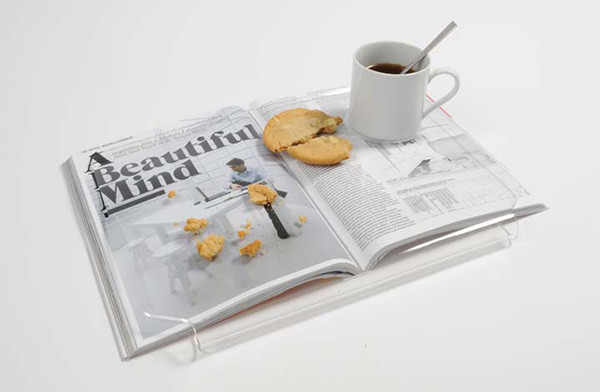 A Food Tray That Lets You Read And Eat At The Same Time