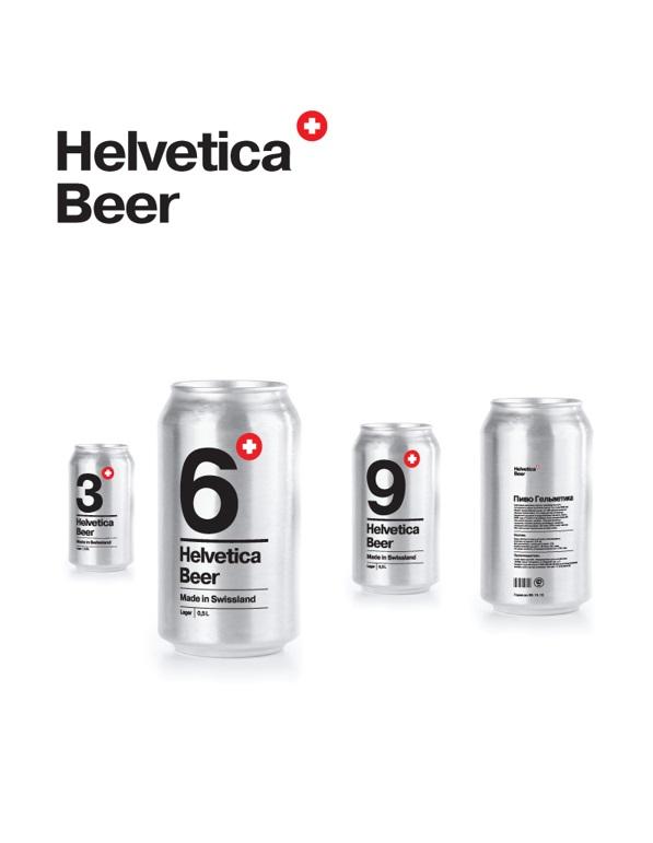 For Type Lovers: Helvetica Beer