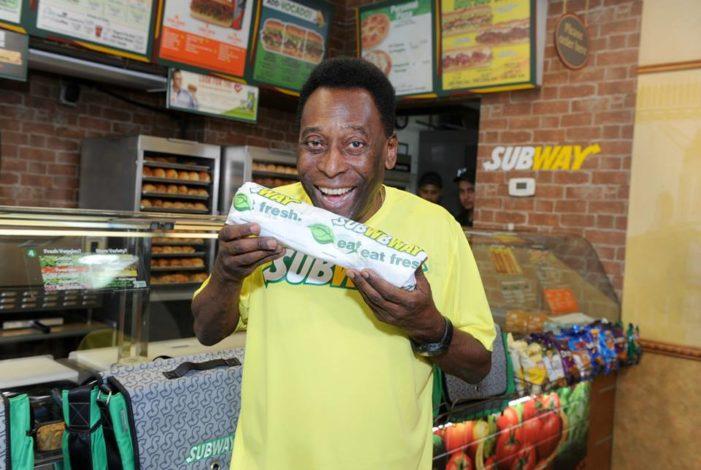 Pele Introduced as Global Brand Ambassador for Subway Restaurants
