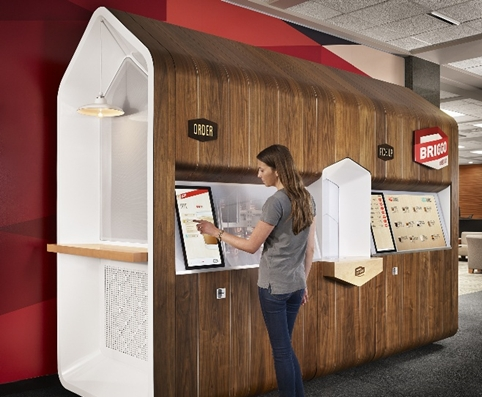 A Smartphone-Controlled Coffee House, From Briggo & Fuseproject