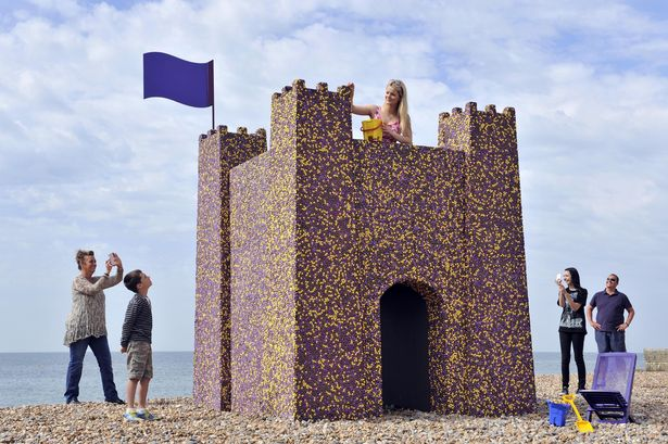 The Cadbury Castle Built From 90,000 Dairy Milk Pebbles