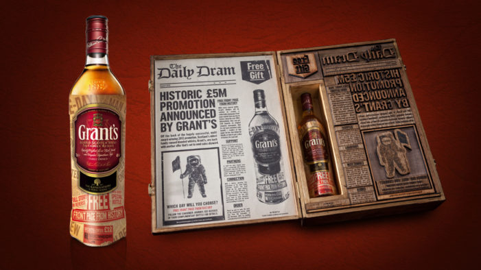 Grant's Whisky Offers Customers Chance to Claim Historic Newspaper Front Page