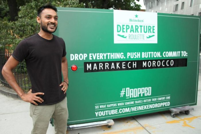 """Heineken Challenges Consumers' Claims with """"Departure Roulette"""" Roadshow"""