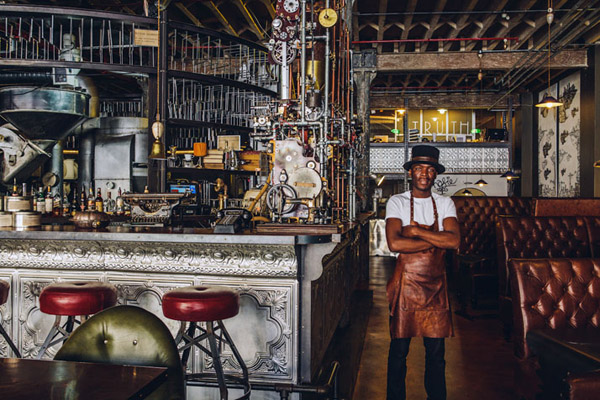 In South Africa, A Steampunk-Themed Coffee Shop That Serves Great Coffee