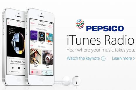 PepsiCo Official Launch Partner for iTunes Radio