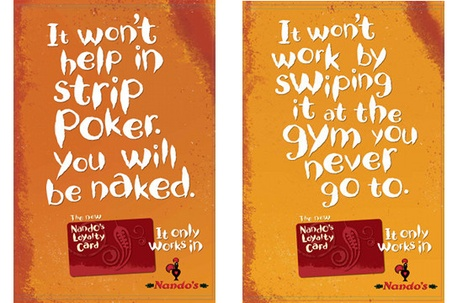 Nando's Launch Integrated Ad Campaign For New Loyalty Card