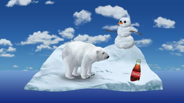 Interactive Coca-Cola Ad Features Polar Animals Performing Crazy Stunts