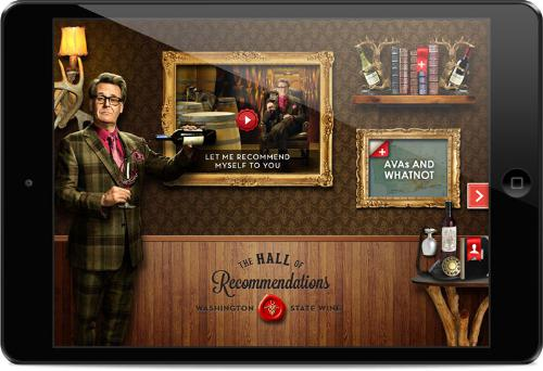 """Washington State Wine Launches """"The Recommendeuer"""" Campaign & iPad App"""