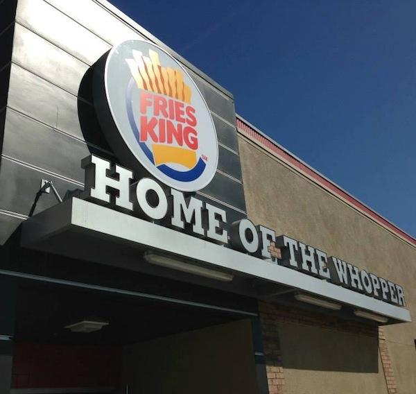 Burger King Changes Name To 'Fries King'