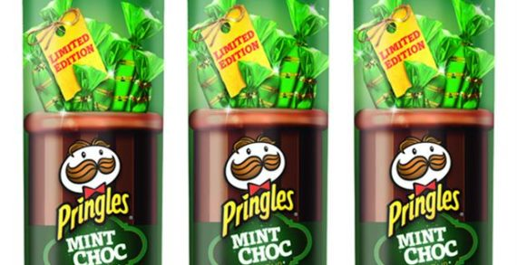 Pringles Debuts Sweet Flavour in UK With Mint Choc Crisps