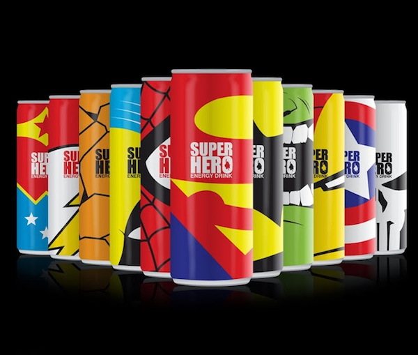A Concept Design That Gives Energy Drinks A Superheroic Makeover