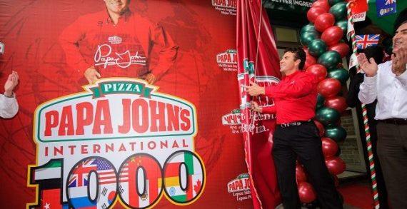 Papa John's Celebrate Reaching 1,000 International Restaurant Milestone