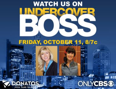 Donatos Chairman to Be Featured in Upcoming Episode of Undercover Boss