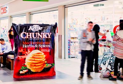 Experiential Campaign Puts Two Metre Tall Chip Packs in Retail Space