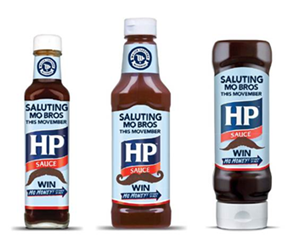 HP Sauce Teams With Movember & Unveils Specially Branded Bottles