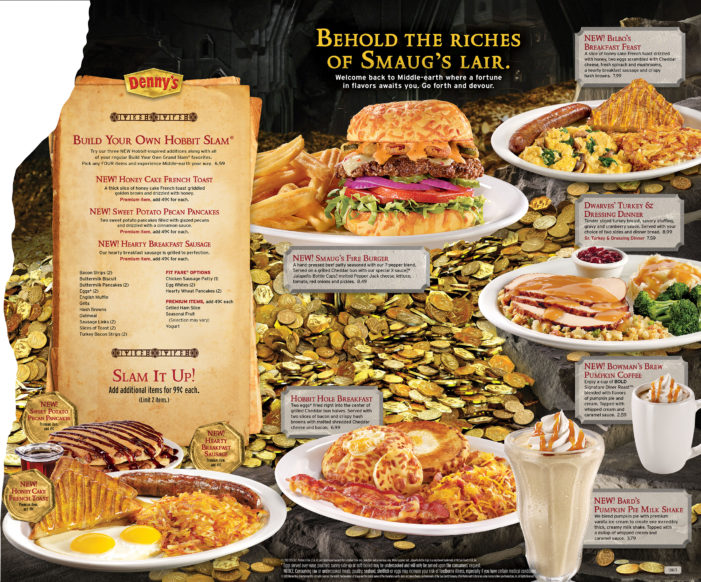 "Holiday Flavours Inspired by ""The Hobbit"" Trilogy Return to Denny's"