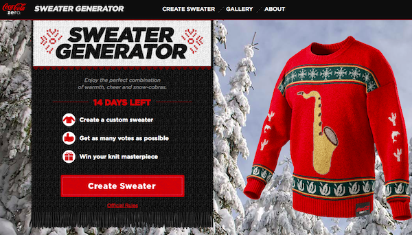 Coca-Cola Lets You Create Your Own Ugly Christmas Sweater