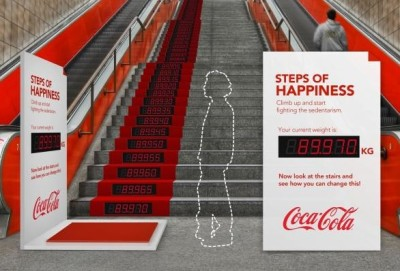 Coca-Cola's Interactive Subway Ad Urges Commuters To Take The Stairs