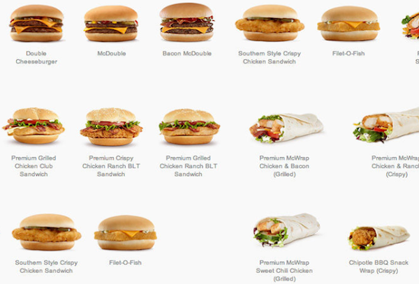 McDonald's Revamps Online Menu Design