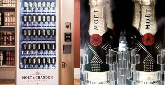 Moët & Chandon Focuses on Novelty with a Champagne Vending Machine