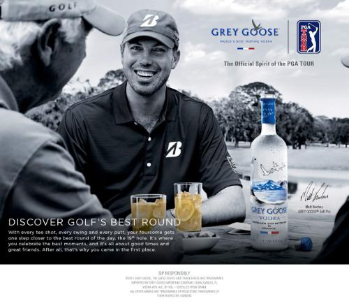 "Grey Goose Vodka Named The ""Official Spirit"" Of The PGA Tour"