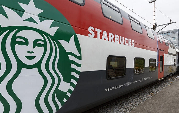 Mobile Starbucks Store in a Train Lets You Enjoy a Cup Of Coffee While on the Go