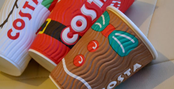 Costa Launch Limited Edition Christmas Cups