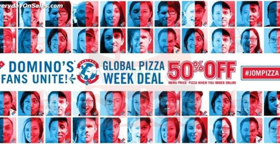 Domino's Pizza Kicks Off Global Domino's Week by Offering 50 Percent Off