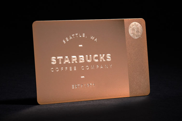 Starbucks Offers New Limited Edition Metal Gift Card in Time of the Holidays