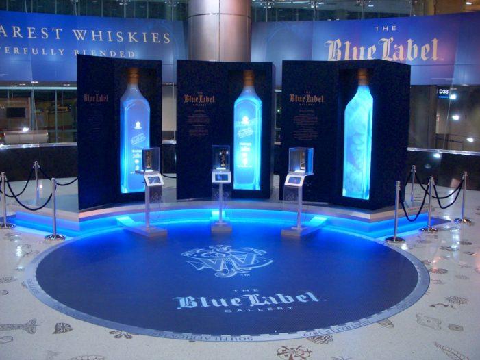 Johnnie Walker Blue Label Gallery Lights-up Miami