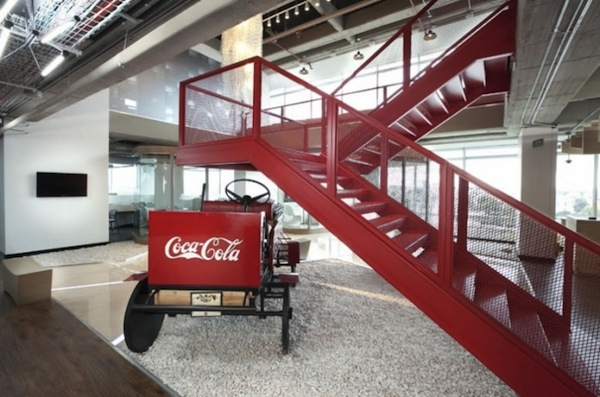 A Peek Into Coca-Cola's Sleek & Modern New Offices In Colombia