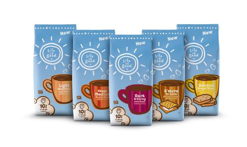 Life is good Brews Happiness with New Coffee Line