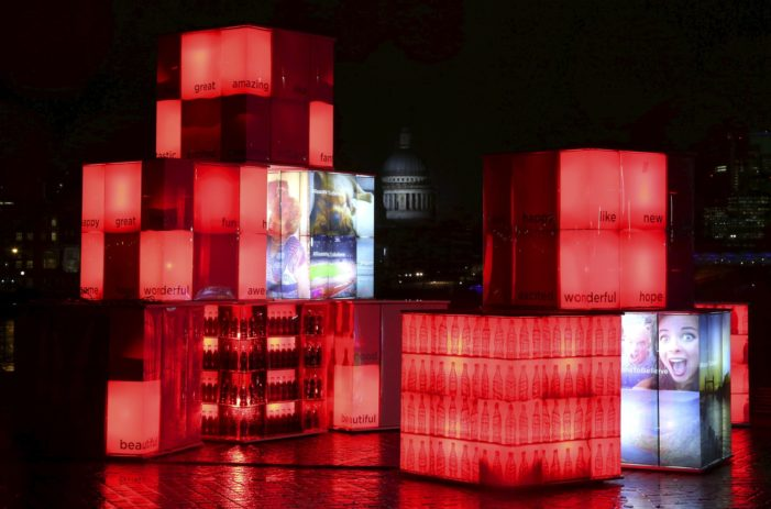 UK Lights up Coca-Cola Ordered Artwork with Optimism on Social Media